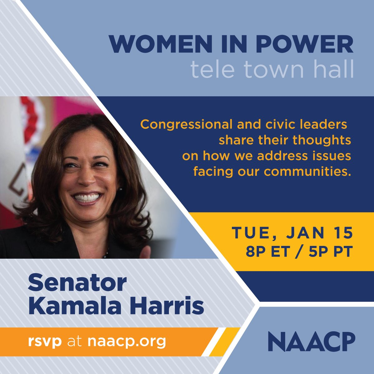 NAACP to Host 2019 Women in Power Town Hall With Sen. Kamala Harris and Reps. Karen Bass, Lucy McBath and Marcia Fudge